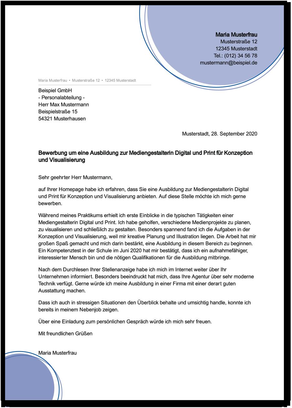 Bewerbung Mediengestalter Digital Print Ungekundigt 11