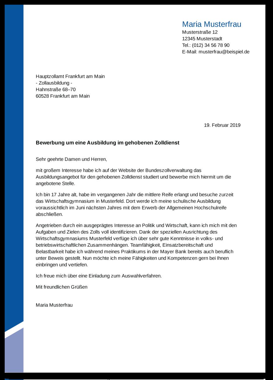 Die Bewerbung zur Ausbildung: Zoll - Ausbildungspark Verlag