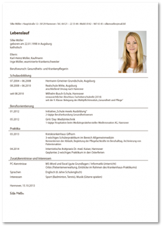 lebenslauf kaufmann kauffrau fr bromanagement bewerbung zur ausbildung - Bewerbung Ausbildung Kauffrau Fr Bromanagement