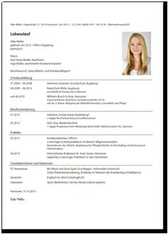 lebenslauf medizinische fachangestellte bewerbung zur ausbildung - Medizinische Fachangestellte Ausbildung Bewerbung